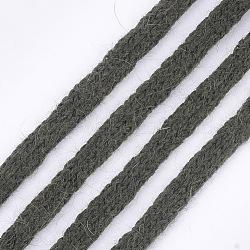 cordons doux en fourrure de vison, corde de nylon, darkolivegreen, 9~10 mm; sur 110 yards / paquet(OCOR-S115-01D)