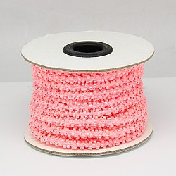 Seed Beads Cord, Glass, Pink, 6mm, 10m/roll(OCOR-H003-3)