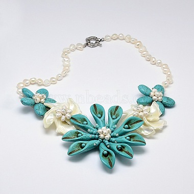DarkTurquoise Synthetic Turquoise Necklaces