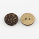 2-Hole Flat Round Coconut Buttons(BUTT-R035-006)-2