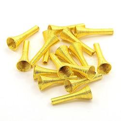 Perles de printemps de fer, Perles de bobine, or, 23~25x10mm, Trou: 2.5~9mm(IFIN-E715-G)