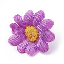 tournesol en tissu de soie, tête de fleur artificielle, pour la décoration de fête de mariage, orchidée, 40x16~17 mm; diamètre intérieur: 2 mm(DIY-WH0134-A18)