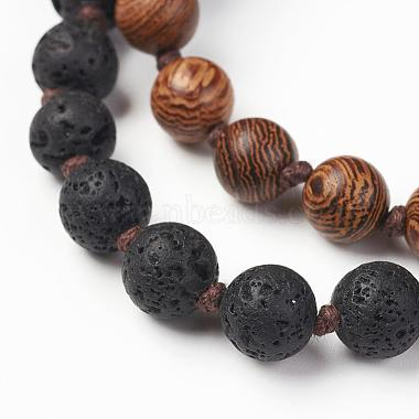 Wood Beaded Two Tiered Necklaces(NJEW-JN01974)-3
