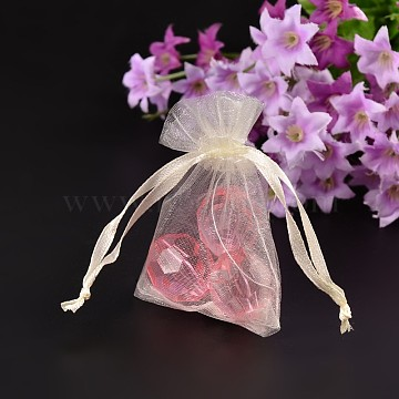 Ivory Rectangle Organza Bags
