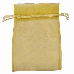 Sacs en organza, avec des rubans, verge d'or, 15x10 cm(X-OP-R016-10x15cm-15)