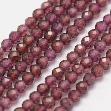2mm Crimson Round Garnet Beads