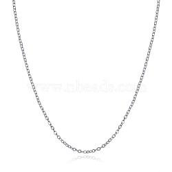 """Colliers avec chaîne en 925 argent sterling, colliers de chaîne de câble, argenterie, 18"""" (45 cm)(NJEW-BB30129-18)"""