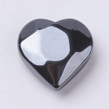 20mm Heart Non-magnetic Hematite Beads