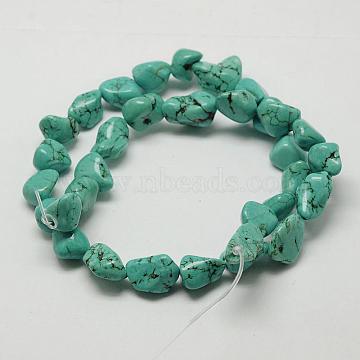 11mm DarkTurquoise Chip Howlite Beads