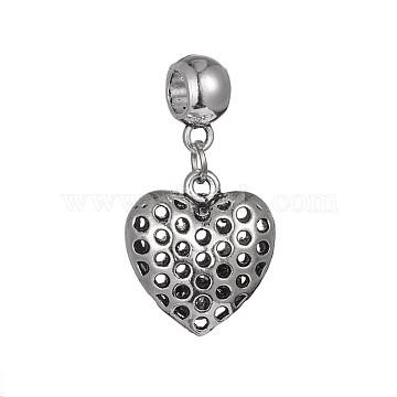 38mm Heart Alloy Dangle Beads