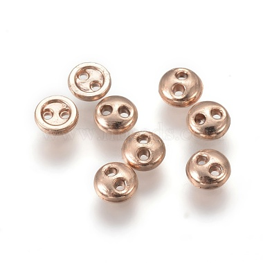 Alloy Buttons(PALLOY-WH0037-01RG-4mm)-2