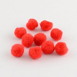 Poupée bricolage artisanat pom pom boules de pom pom, rouge, 10mm(X-AJEW-S006-10mm-12)