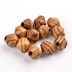 Неокрашенные деревянные бусины, двухконусные, без свинца, Перу, 16x15 мм, отверстие : 5 мм(X-WOOD-Q012-03A-LF)