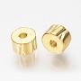 Real 18K Gold Plated Column Brass Spacer Beads(X-KK-Q735-277G)
