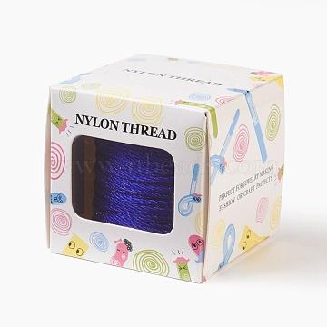 Nylon Thread, Blue, 1.0mm, about 49.21 yards(45m)/roll(NWIR-JP0014-1.0mm-368)