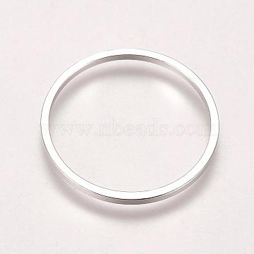 Brass Linking Rings, Ring, Platinum, 18x1mm; Inner Diameter: 16mm(KK-WH0033-38P)