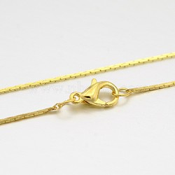 Brass Coreana Chain Necklace Making, with Brass Lobster Claw Clasps, Golden, 16.5 inches(MAK-J009-21G)