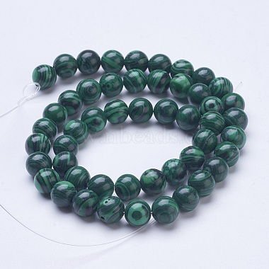 Synthetic Malachite Beads Strands(G-D855-02-8mm)-2
