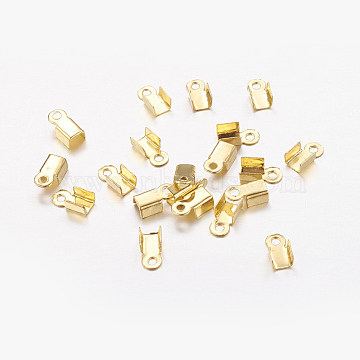 Iron Cord Ends, Golden, 6x3x2.3mm; about 500pcs/20g(X-IFIN-ZX994-G)