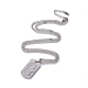 304 Stainless Steel Split Initial Pendant Necklaces(NJEW-L152-03G)-1