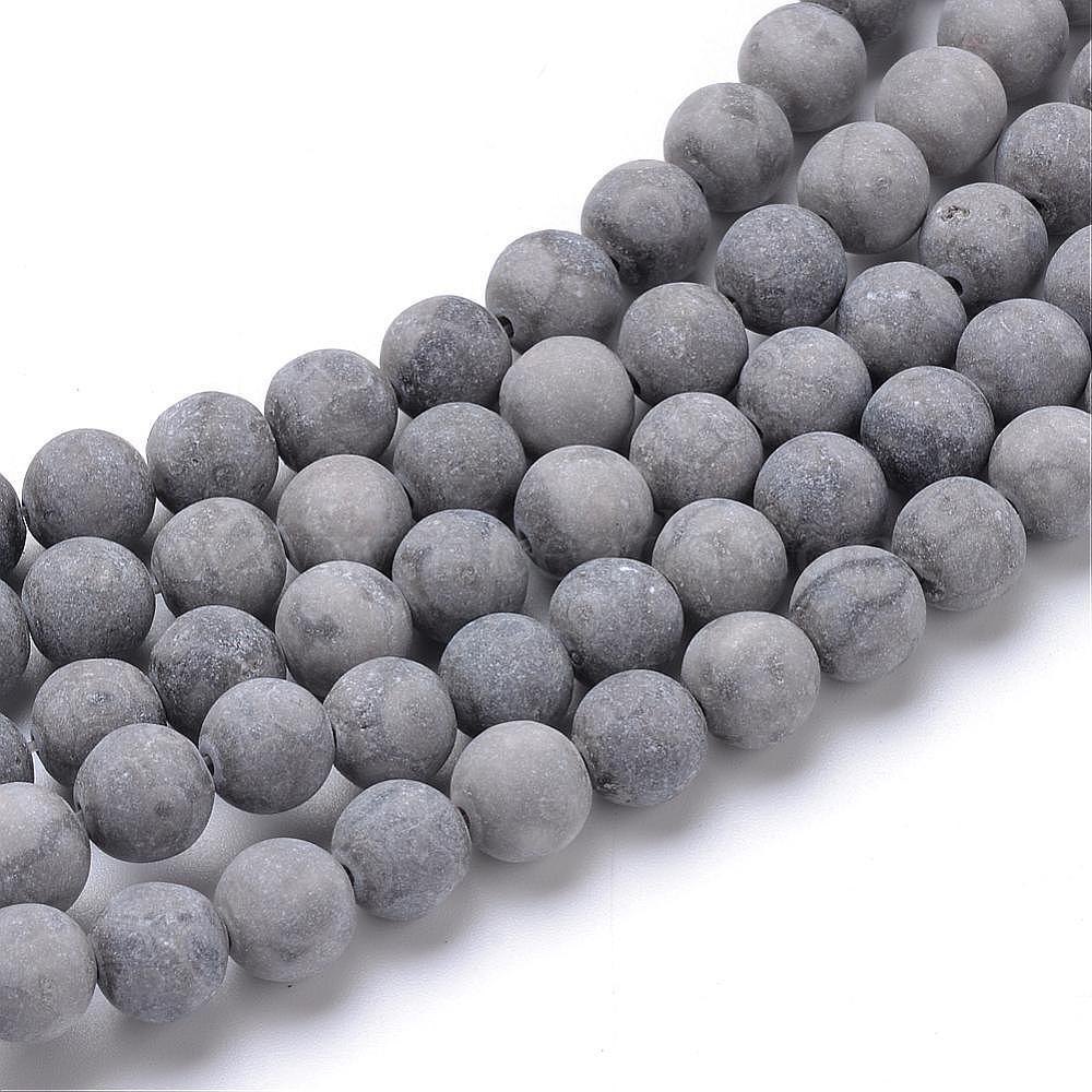 60 Perles maifanite naturelle//pierre médicale