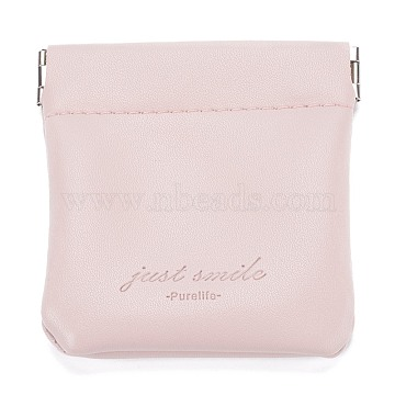 PU Imitation Leather Women's Bags, Square, Snow, 8x8cm(ABAG-P005-A01)