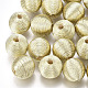 Polyester Cord Fabric Beads(WOVE-S117-14mm-04)-2