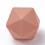14mm Coral Polygon Silicone Beads(SIL-T048-14mm-61)