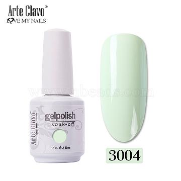 15ml Special Nail Gel, for Nail Art Stamping Print, Varnish Manicure Starter Kit, PaleGreen, Bottle: 34x80mm(MRMJ-P006-B004)