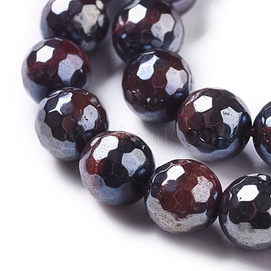 Electroplated Natural Tiger Eye Beads Strands(G-F660-02-8mm)-3