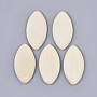 53mm PapayaWhip Horse Eye Wood Beads(WOOD-N003-001)