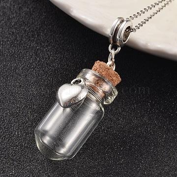 34mm Bottle Alloy+Glass Dangle Beads