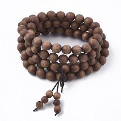 """Ювелирные изделия из буддийского стиля, браслеты / ожерелья из сандалового дерева, деревесиные, 4 (35.43"""" см)(BJEW-Q696-01)"""