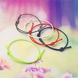 Création de bracelets en corde de polyester ciré coréen, couleur mixte, diamètre réglable: 40~70 mm(AJEW-JB00011)