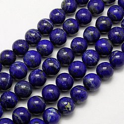 Natural Lapis Lazuli Beads Strands, Grade A-, Round, 5mm, Hole: 1mm; about 77pcs/strand, 15.3inches
