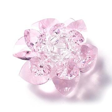 47mm PearlPink Flower Glass Beads