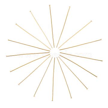 304 Stainless Steel Flat Head Pins, Golden, 50x1.7x0.7mm(STAS-L221-48G)