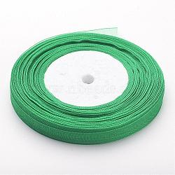 """Ruban d'organza, verte, 3/8"""" (10 mm); 50yards / roll (45.72m / roll), 10 rouleaux / groupe, 500yards / groupe (457.2m / groupe)(RS10mmY019)"""
