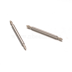 Stainless Steel Double Flanged Spring Bar Watch Strap Pins, Stainless Steel Color, 20x1.5mm(X-STAS-M231-05)
