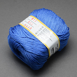 Baby Yarns, with Cotton, Silk and Cashmere, RoyalBlue, 1mm; about 50g/roll, 6rolls/box(YCOR-R028-YBB12)