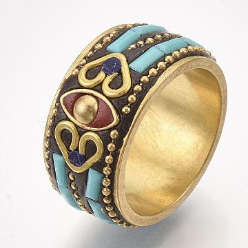 DarkTurquoise Brass Finger Rings