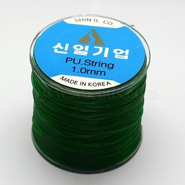 Korean Elastic Crystal Thread, Green, 0.5mm, about 382.76 yards(350m)/roll(EW-F003-0.5mm-06)