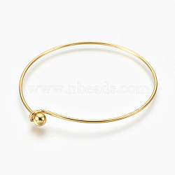 задатки латуни браслет, золотой, 2-3 / 8 (6.1 см) х 2-5 / 8 (6.7 см)(X-MAK-L017-01G)