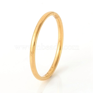 304 Stainless Steel Plain Band Rings, Golden, US Size 7 1/4(17.5mm)(X-RJEW-G107-1.5mm-7-G)