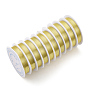 Copper Jewelry Wire, Long-Lasting Plated, Light Gold, 0.4mm; 10m/roll