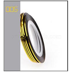 Ligne de bande de striping, nail art autocollant conseils décoration, rouleaux d'autocollants nail art, or, 4.3cm; 20m / rouleau(MRMJ-L003-A05)