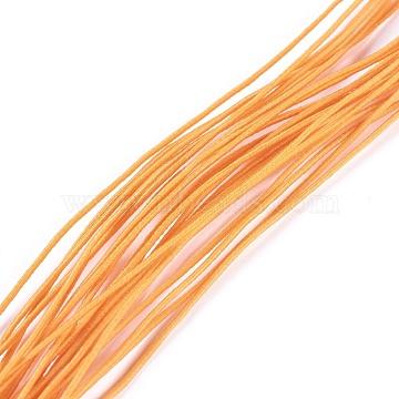 Round Elastic Cord, Orange, 0.8mm, about 24.05 yards(22m)/bundle(EW-WH0008-12)