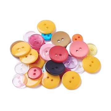Mixed Color Resin Button