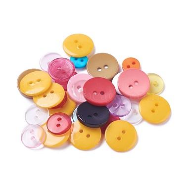 Mixed Color Resin Button
