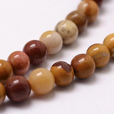 Natural Mookaite Round Bead Strands(G-G735-18-8mm)-3